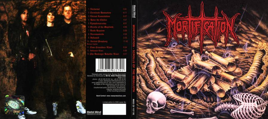 mortification -scrolls of megilloth