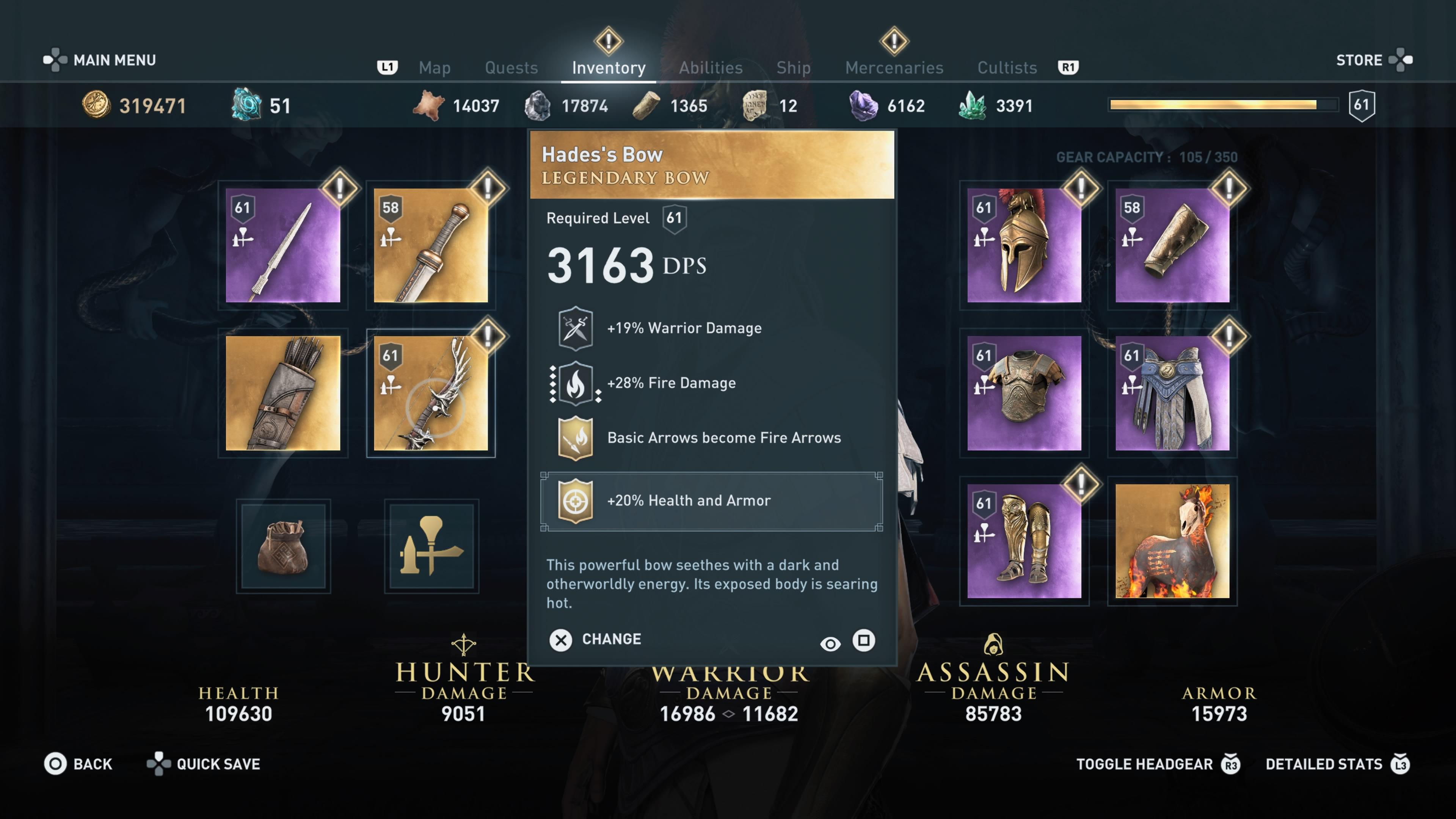 assassins creed odyssey arena fighter set