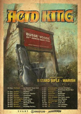 Acid King - busse Woods 20th anniversary poster 2019 - with dates